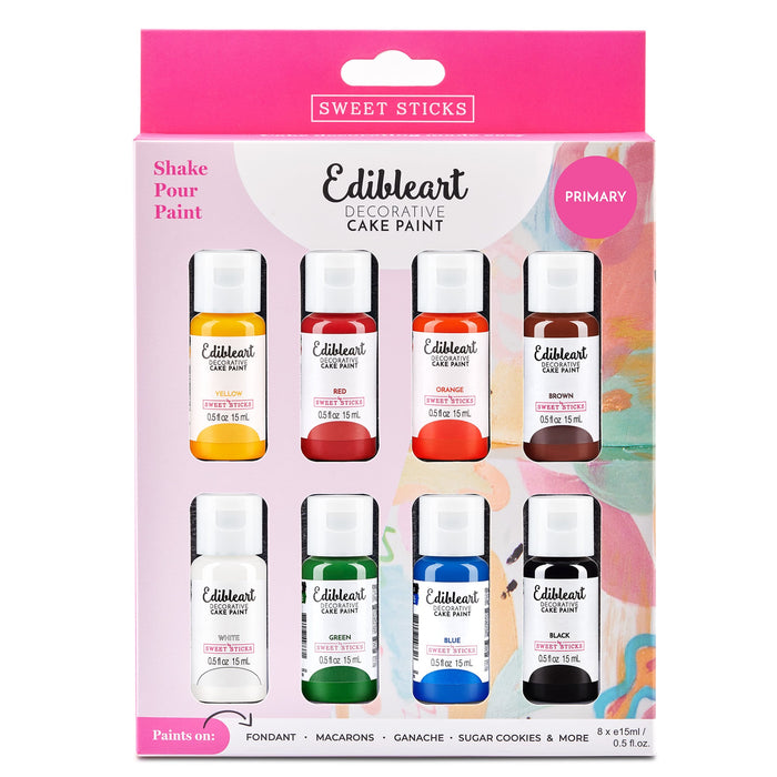 Edible Art Decorative Paint - Primary Color 8-pack