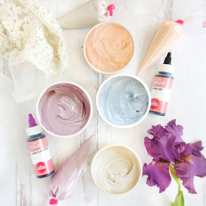 Cookie Countess Gel Icing Color Set - Wedding Colors