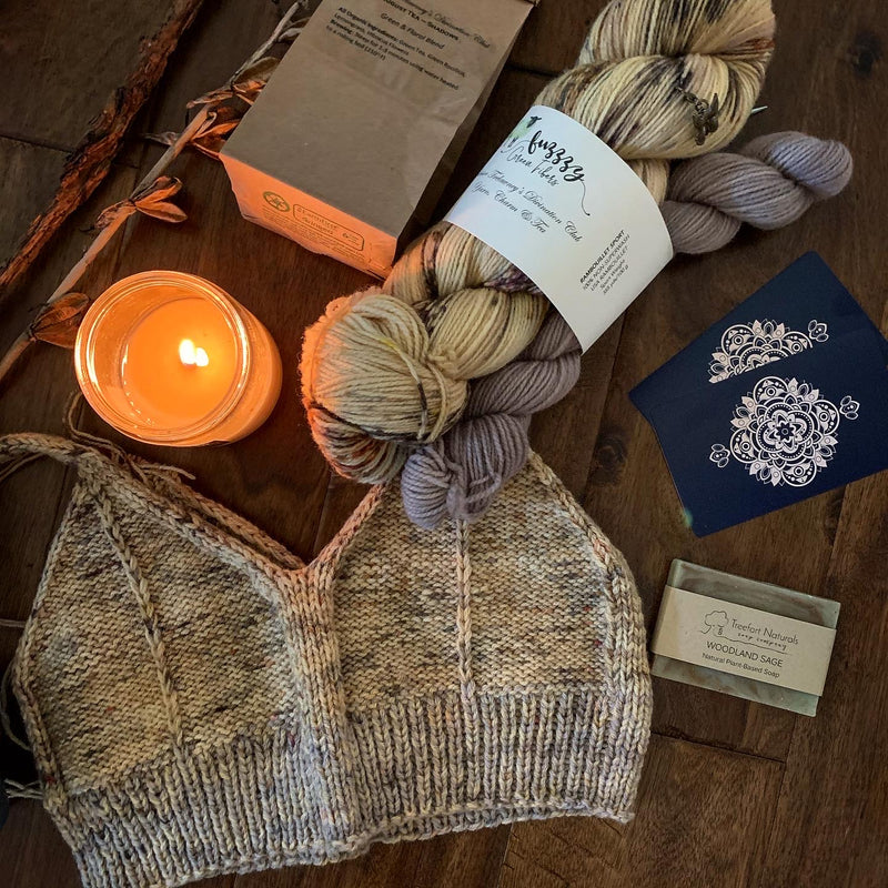 Ready to Ship - Rambouillet Sport Sock Set - Divination Club: Yarn, Charm & Tea - August