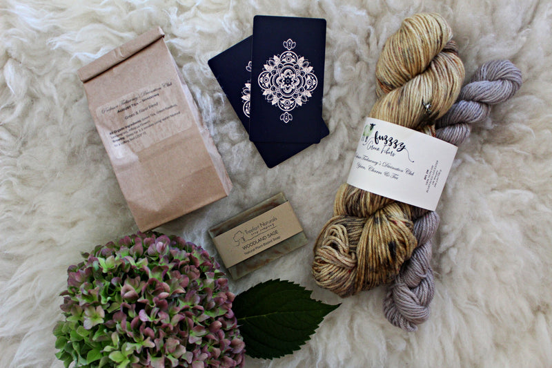 Ready to Ship - BFL DK Sock Set - Divination Club: Yarn, Charm & Tea - August