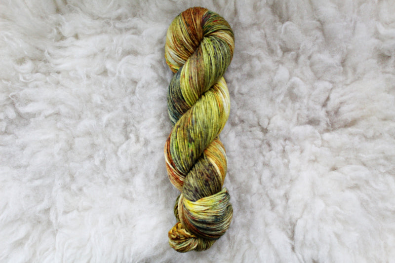 Goldenrod - Merino Tencel Sock - Fingering Yarn - Non-Superwash