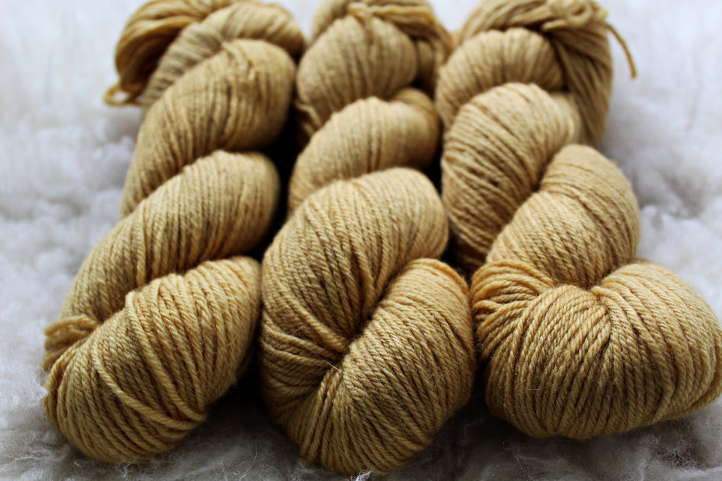Dyed-to-Order - Honey - Non-Superwash - Fingering, Sport & DK Bases