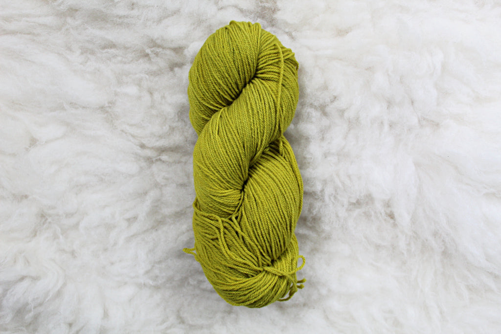 Chartreuse - High Twist Merino Sock - Fingering Weight - Non Superwash