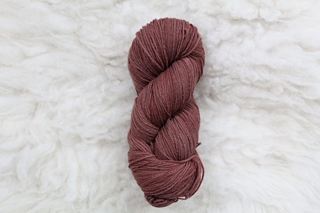 Liver Chestnut - High Twist Merino Sock - Fingering Weight - Non Superwash
