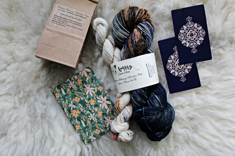 Ready to Ship - Rambouillet Sport Sock Set - Professor Trelawney's Divination Club: Yarn, Charm & Tea - July