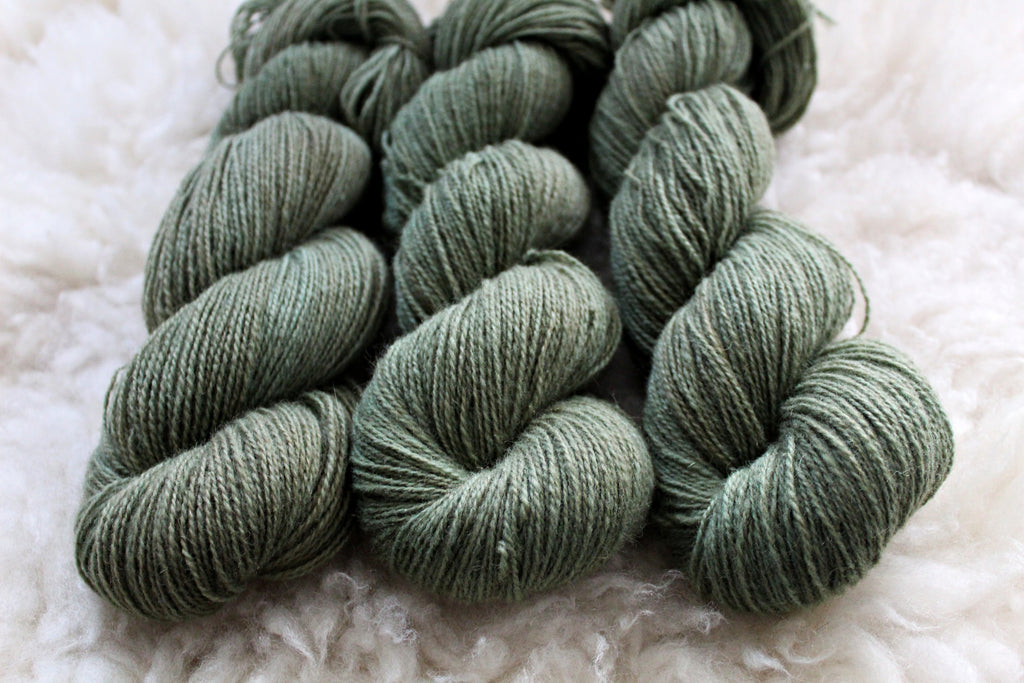 Moss - BFL Mohair (410 yds) - Fingering Weight - Non-Superwash
