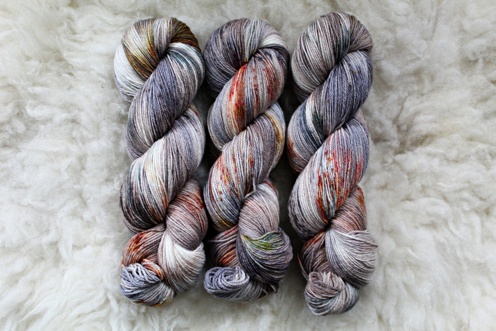 Mourning Dove - Merino Tencel Sock - Fingering Yarn - Non-Superwash