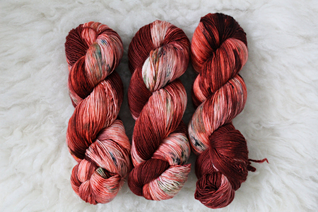 Mrs. Claus Mistletoe - Single Ply Merino Fingering Yarn - Non Superwash