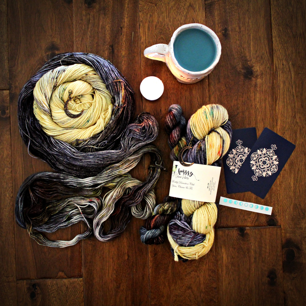Ready to Ship - BFL DK Sock Set - Monthly Divination Club: Yarn, Charm & Tea - October