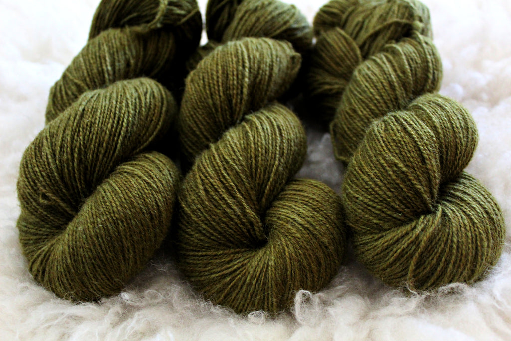 Olive - BFL Mohair - Fingering Weight - Non-Superwash