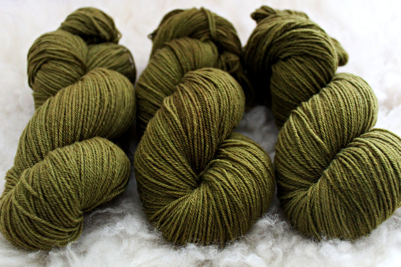 Dyed-to-Order - Olive - Non-Superwash - Fingering, Sport & DK Bases