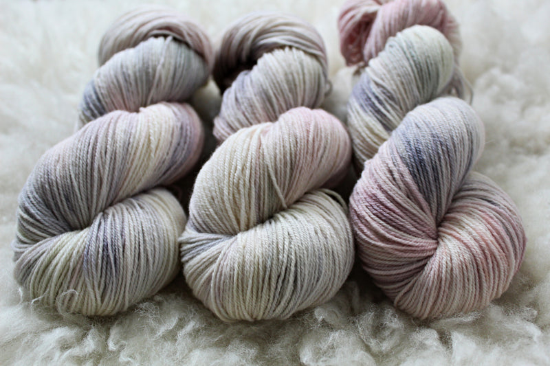 Dyed-to-Order - Pearl Aesthetic - Non-Superwash - Fingering, Sport & DK Bases