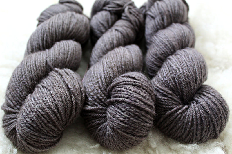 Dyed-to-Order - Pewter - Non-Superwash - Fingering, Sport & DK Bases