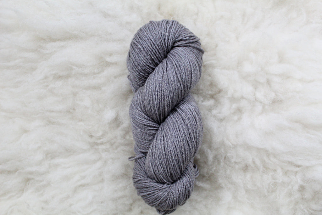 Silver - Merino Tencel Sock - Fingering Yarn - Non Superwash
