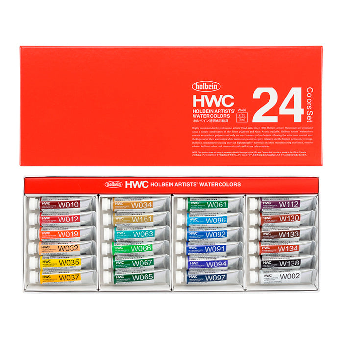 Acuarelas Holbein Artists' Watercolors con 24