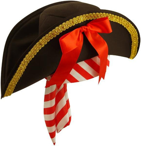 Pirate Hat with Gold Edge