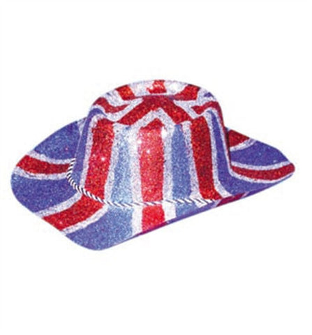Great Britain - Glitter Cowboy Hat