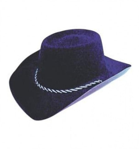 Black Cowboy Hat (flock)
