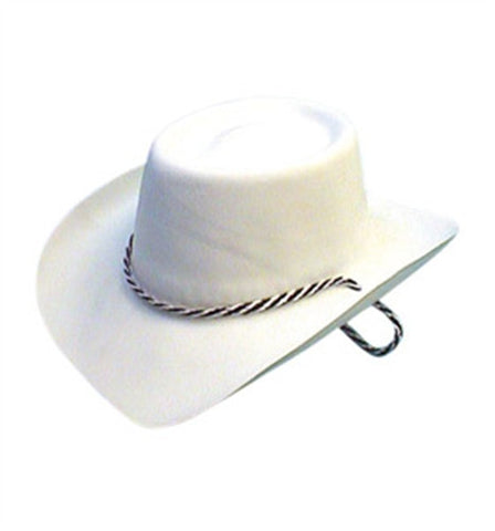 White Cowboy Hat (flock)