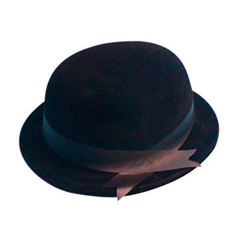 Bowler Hat - Black Flock