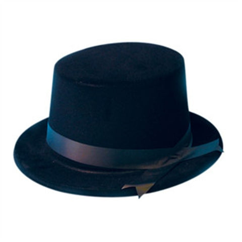 Top Hat - Black Flock