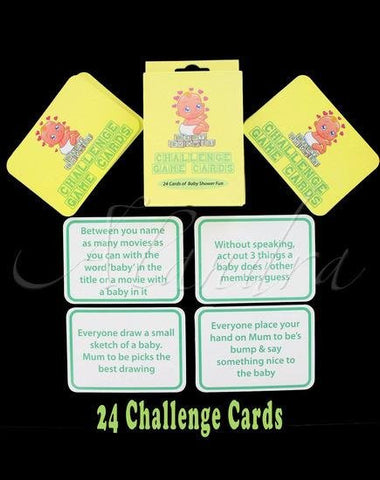 Baby Shower - Challenge Game Cards