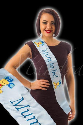 Blue 'Mum To Be' Sash