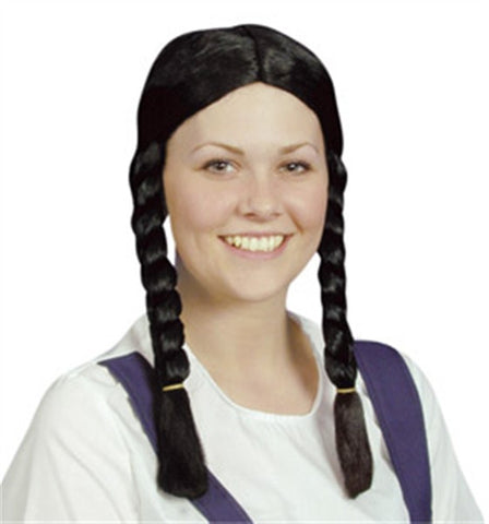 St Trinians Style Black Wig
