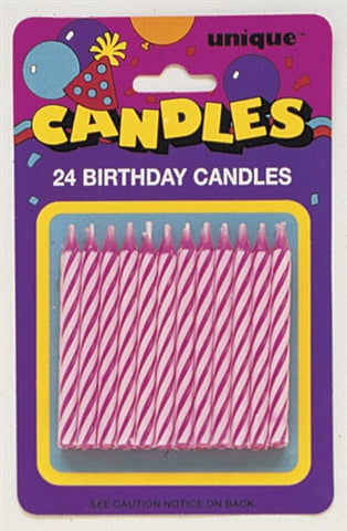 24 Pink Party Candles