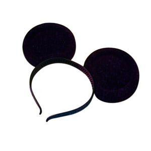 Black Plastic Mouse Ears