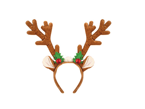 Reindeer Headband with Bell