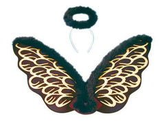 Angel Wings and Halo (Black)
