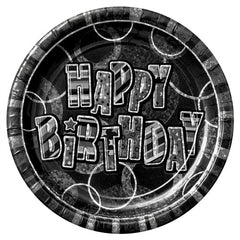 Glitz Black 'Happy Birthday' Plates