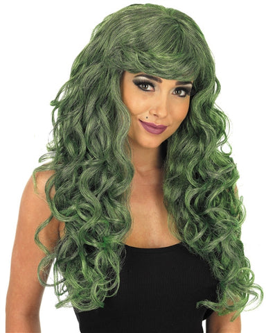Temptress Green  Wig