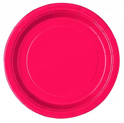 8 Ruby Red Paper Plates