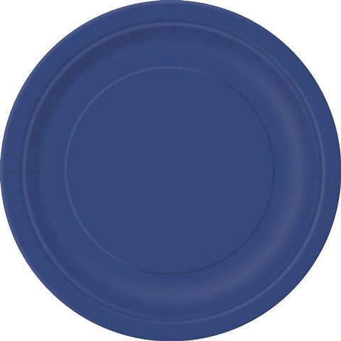 8 Navy Blue PaParty Essentialsr Plates