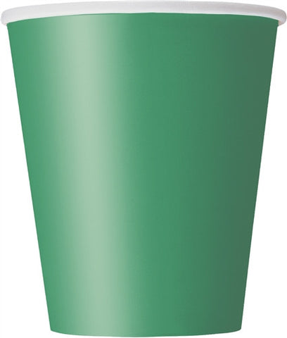 8 Emerald Green 9oz Cups