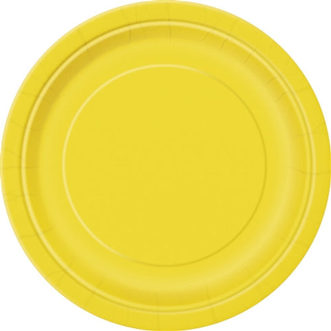 8 Sunflower Yellow PaParty Essentialsr Plates