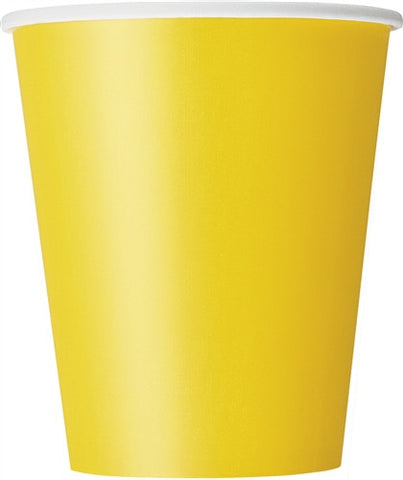 8 Sunflower Yellow 9oz Cups