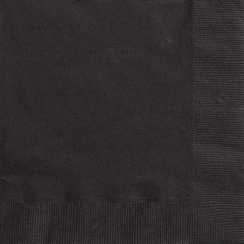 Midnight Black Lunch Napkins