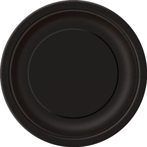 8 Midnight Black Paper Plates