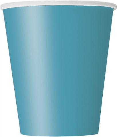 8 Caribbean Teal 9oz Cups