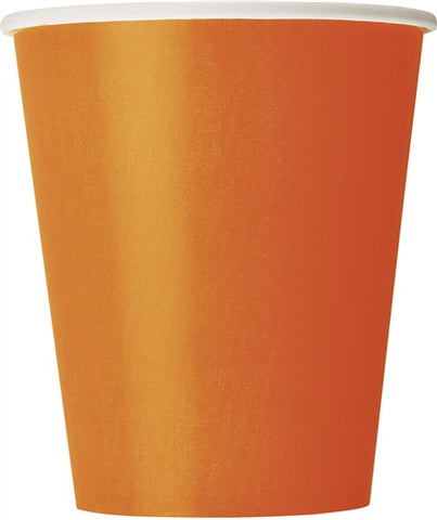 8 Pumpkin Orange 9oz Cups
