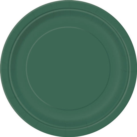 8 Forest Green Paper Plates