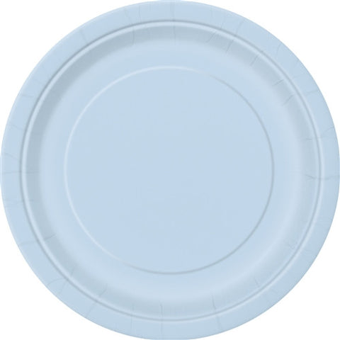 8 Baby Blue Paper Plates