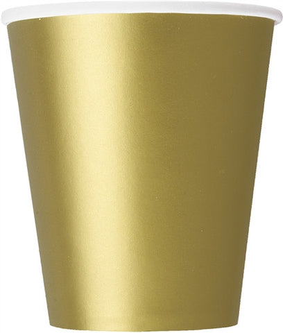 8 Gold 9oz Cups