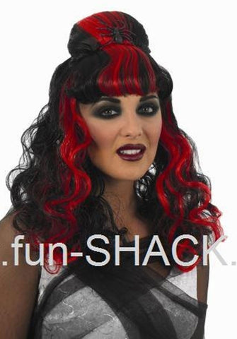 Red & Black Spider Wig