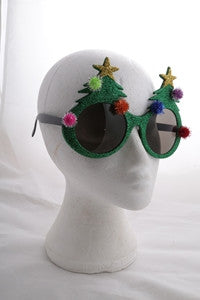 Glittered Christmas Sunglasses