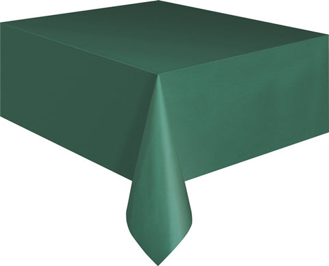 Forest Green Plastic Tablecover