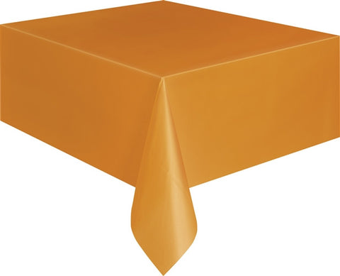 Pumpkin Orange Plastic Tablecover